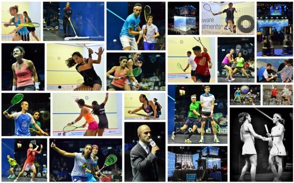 Round One top half photo collage