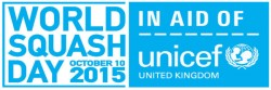 World Squash Day gets On the Ball for Unicef