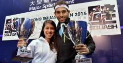 David and Elshorbagy retain Hong Kong titles