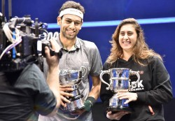 Egyptian duo Elshorbagy and El Sherbini lift British Open titles