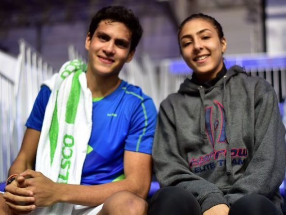 Egyptian top seeds Youssef Ibrahim and Hania El Hammamy