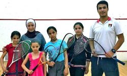 Squash Dream fulfilled for Syrian Refugees via neutral WSF Flag