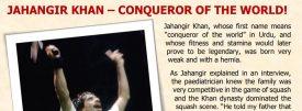 Hall of Fame Interviews : Jahangir Khan