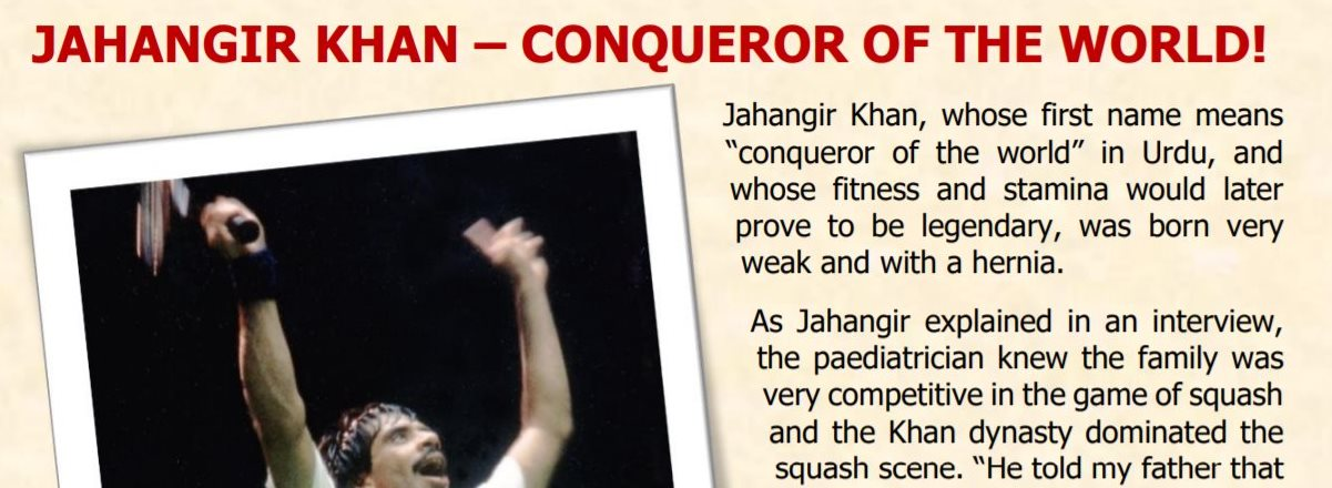 Hall of Fame Interviews : Jahangir Khan – World Squash