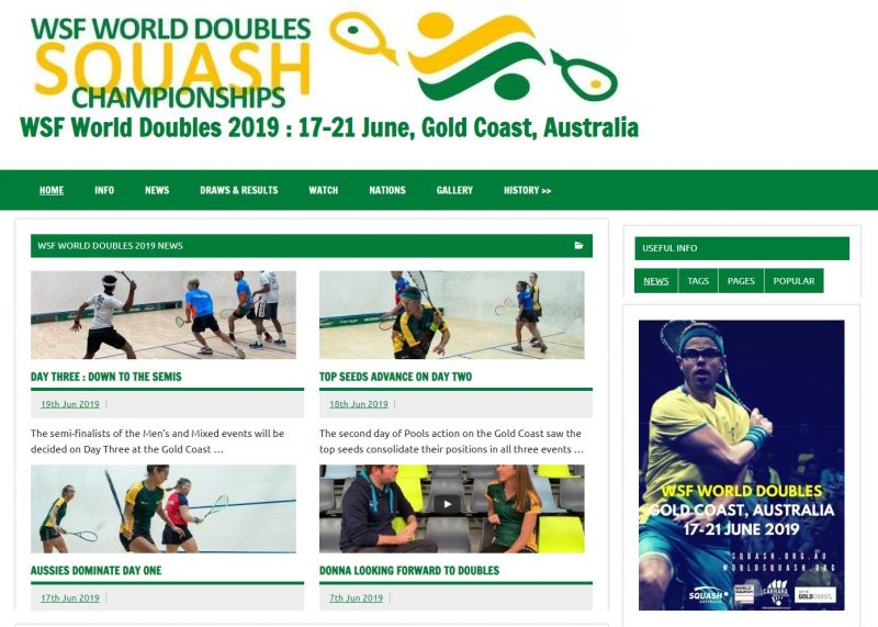 WSF World Doubles : Semi-Finalists decided on Day Three – World Squash