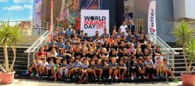 Legends join in to make World Squash Day a feast of fun, food and friendship all over the planet