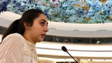 Noorena Shams addresses the United Nations