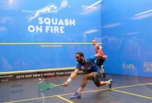 2019 WSF Men's World Team Squash Championship in action