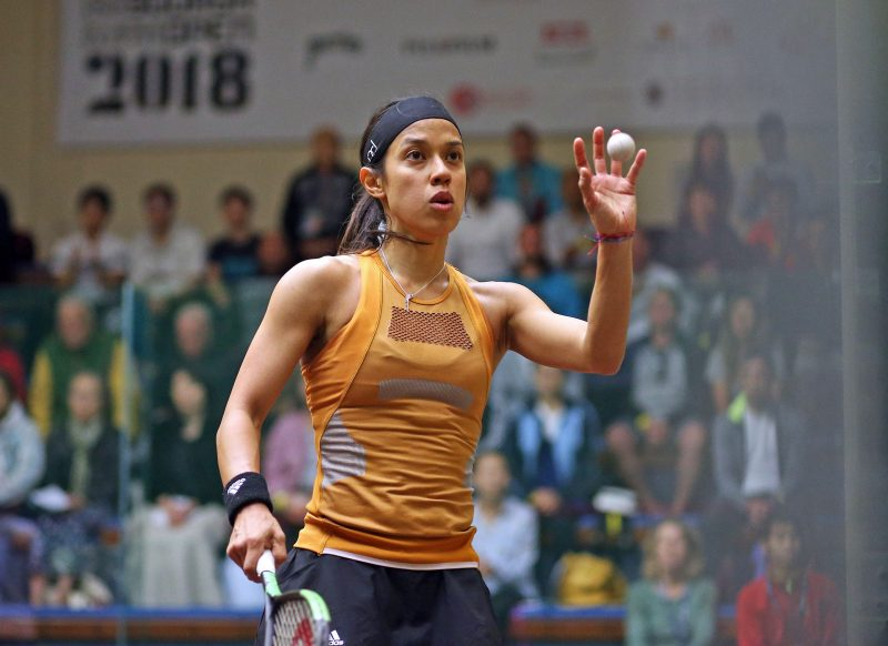 Nicol David in action