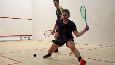 Squash in action in Washington D.C. during the 2019 WSF Men's World Team Squash Championship