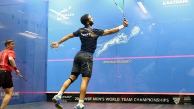 The 2019 WSF Men's World Team Squash Championship in progress in Washington D.C.