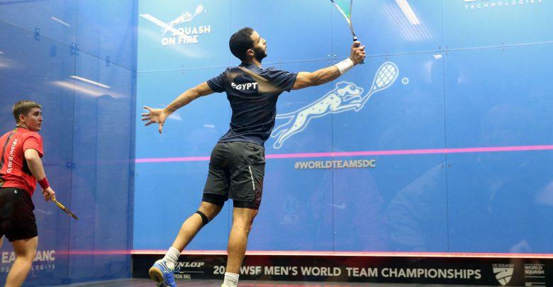 The 2019 WSF Men's World Team Squash Championship in progress in Washington D.C.