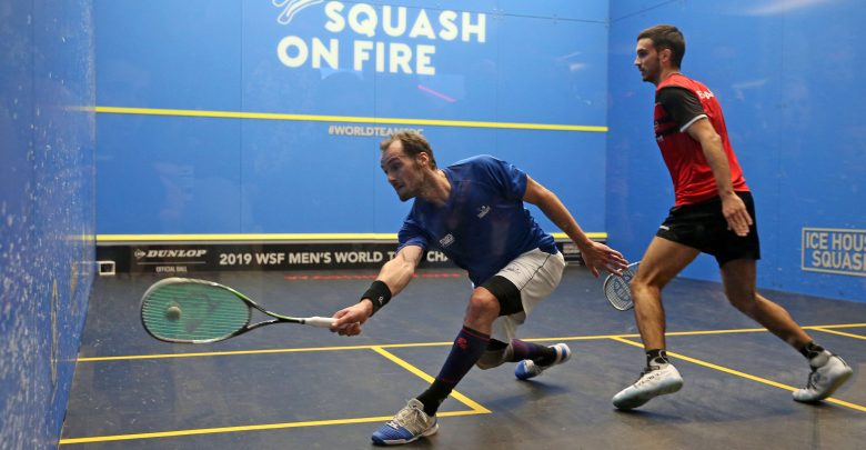 The 2019 WSF Men's World Team Squash Championship in action in Washington D.C.
