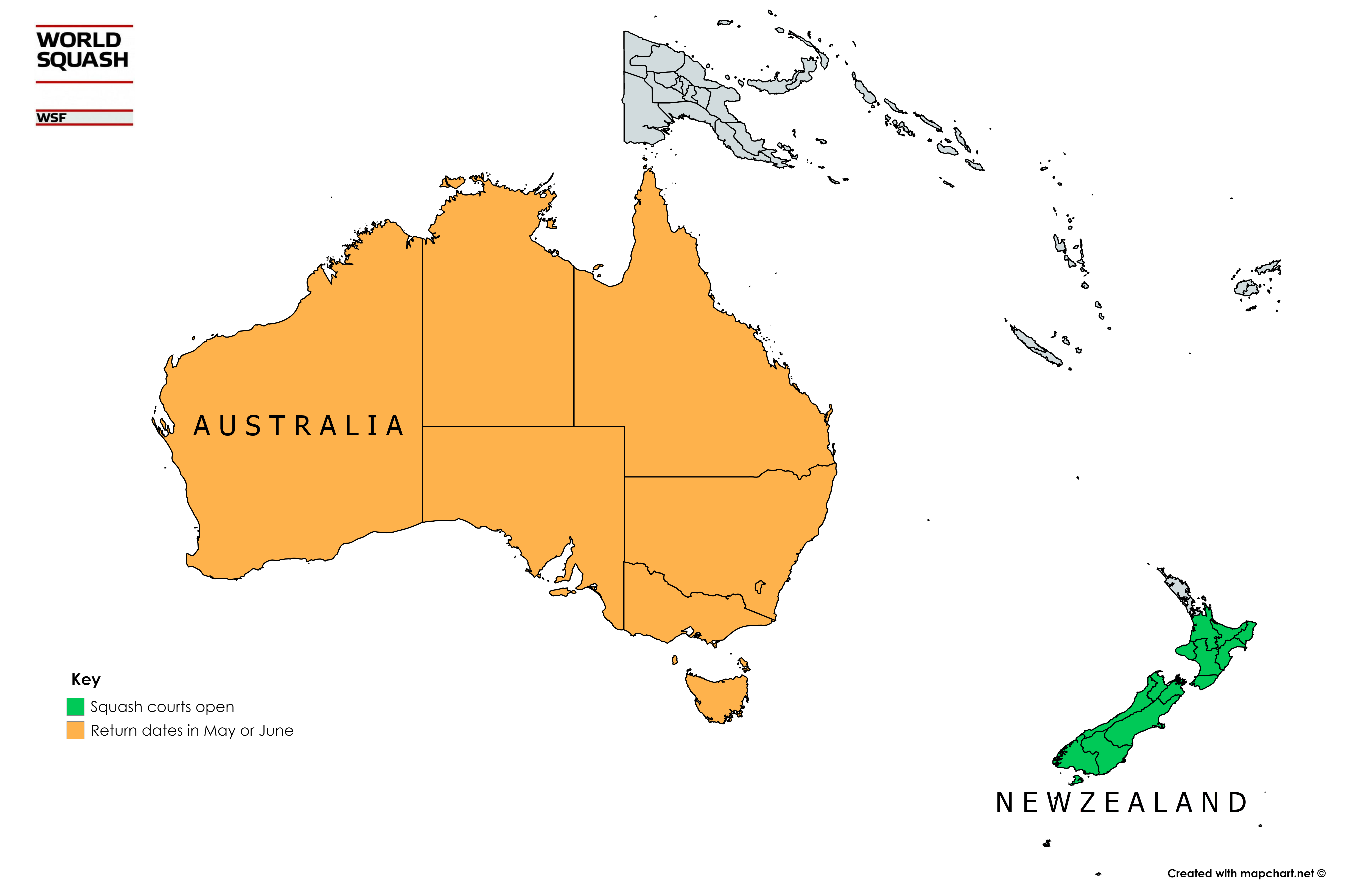 The State of Squash in Oceania