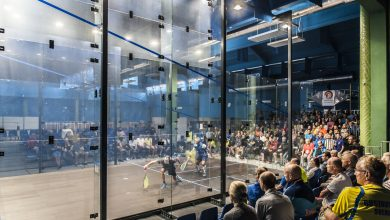 The 2017 European Masters Squash Championships taking place at the Hasta la Vista club