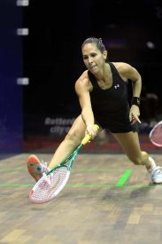 Samantha Teran in action on the squash court