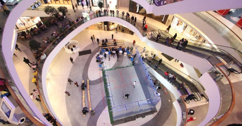 The 2018 Subbotnik Open in progress at Moscow's Metropolis shopping mall