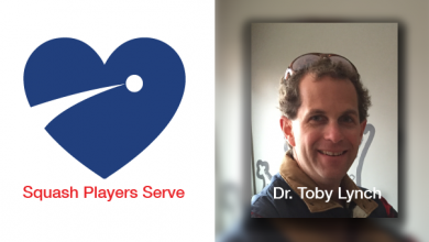 Squash Players Serve - Dr. Toby Lynch