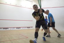 Former World Champion Nick Matthew on court playing SQUASH 57