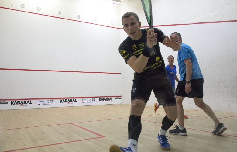Former World Champion Nick Matthew on court playing SQUASH 57