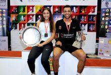 Reigning WSF World Junior Squash Champions Hania El Hammamy (left) and Mostafa Asal (right)