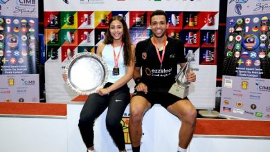 Reigning WSF World Junior Squash Champions Hania El Hammamy (left) and Mostafa Asal (right)