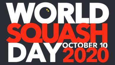 The 2020 World Squash Day Logo