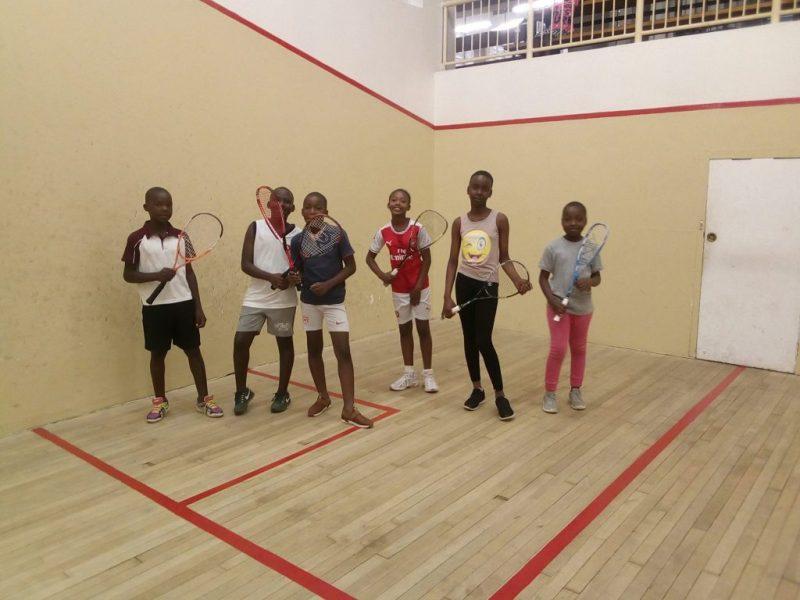 Children from ZEST on court