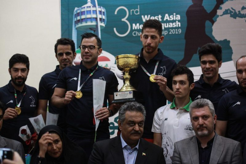 The victorious Iran team at the 2019 West Asian Championship