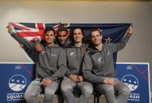 Team New Zealand at the 2019 WSF Men's World Team Squash Championship