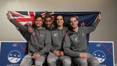 Team New Zealand at the 2019 WSF Men's World Team Squash Championship