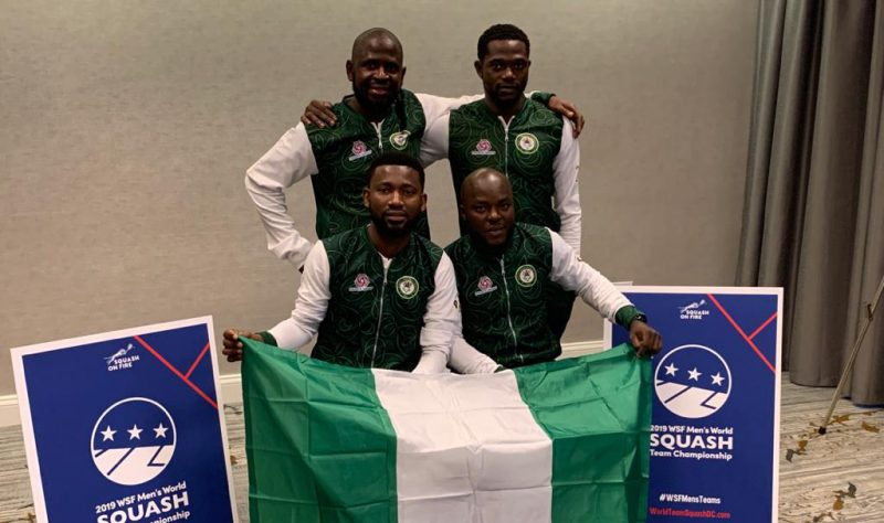 The Nigerian National Team at the 2019 WSF Men's World Team Squash Championship