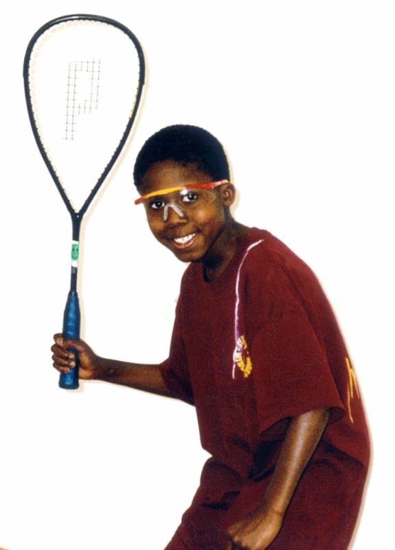Patrick Williams as a sixth grader at SquashBusters
