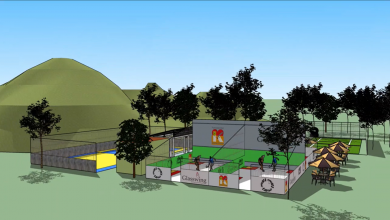 A mock up of the complex
