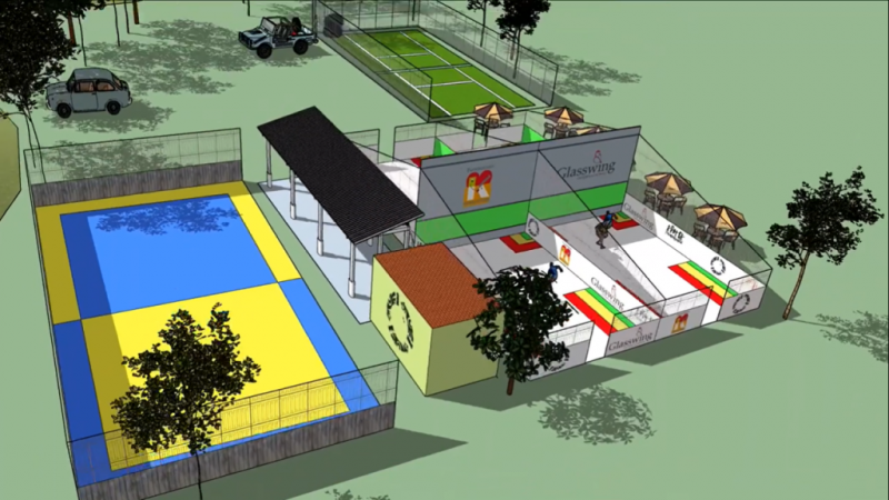 A mock up of what the complex will look like