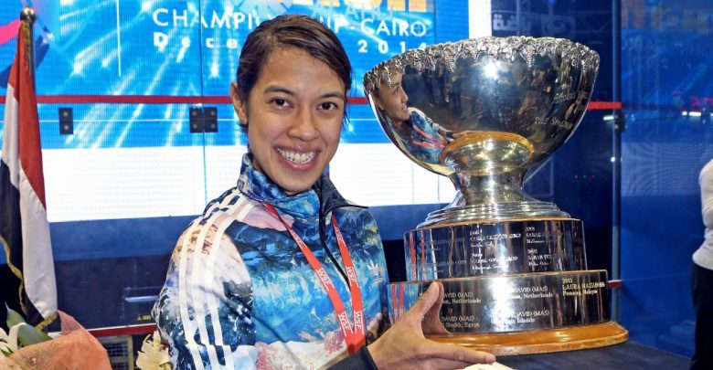 Nicol David with her eighth World Championship title