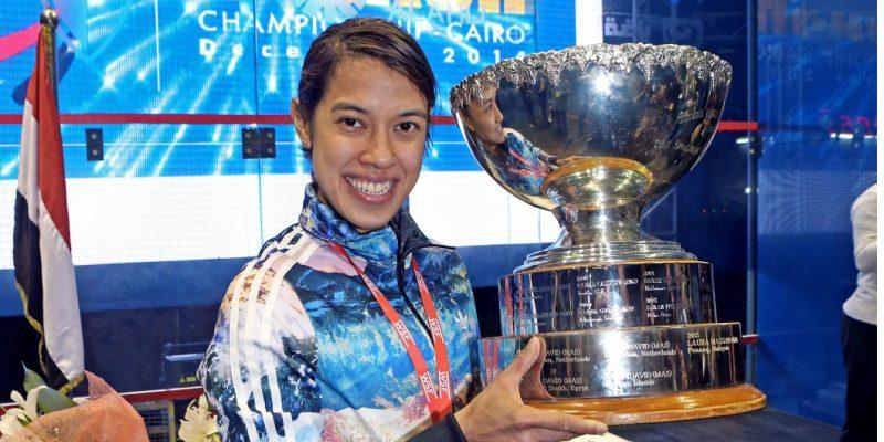 Nicol David with her eighth World Championship title