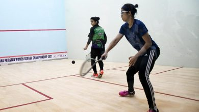 Zaynab Khan and Noor Ul Huda go head-to-head in the women's Pakistan Nationals final