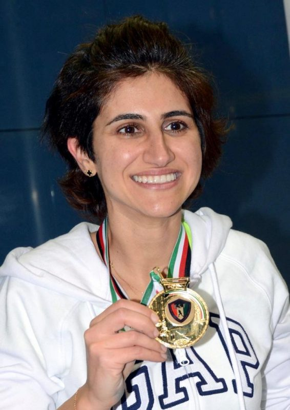 Catherine Raffoul with her gold medal