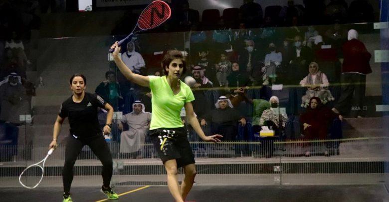 The Kuwait Women's Squash Open in progress