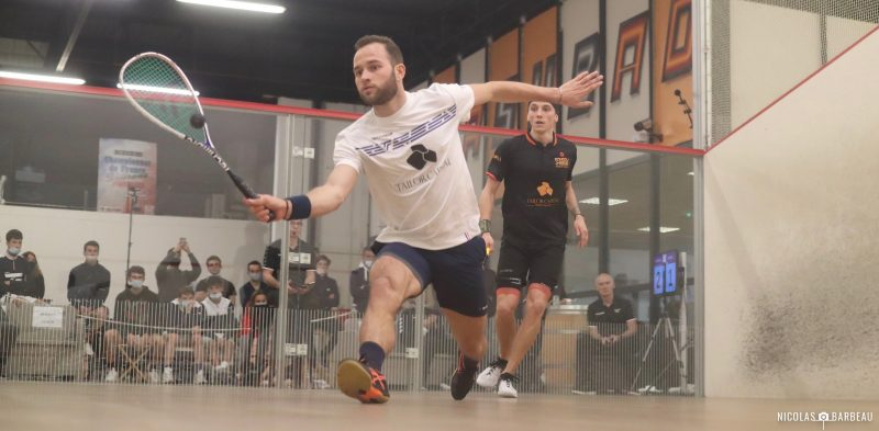 Gregoire Marche (left) takes on Lucas Serme in the French Nationals semis (picture credit: Nicolas Barbeau)