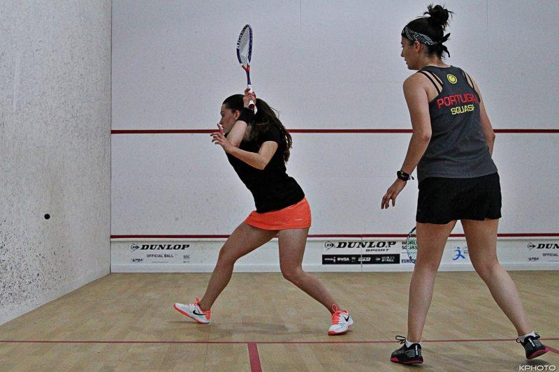 Portuguese duo Alexandra Santos and Catarina Nunes in action