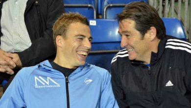 David Pearson (right) with former world champion Nick Matthew