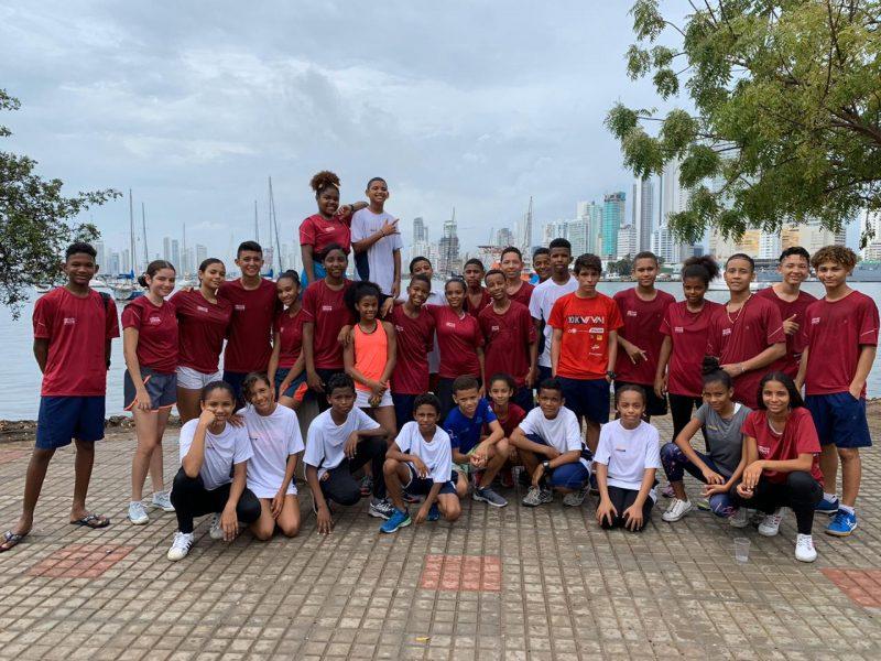 Squash Urbano juniors on a trip