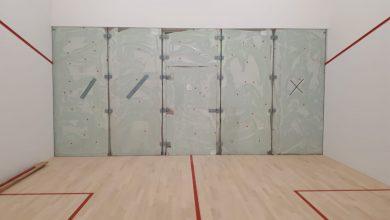 Courtcraft squash court mid-construction
