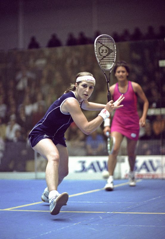Sarah Fitz-Gerald in action during the 2001 World Championship final