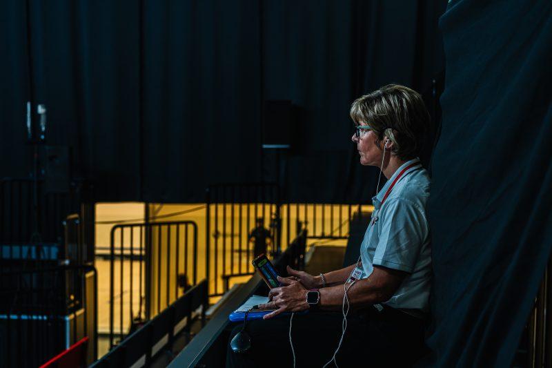 Andrea Santamaria officiates during the 2020 Manchester Open