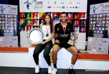 2019 WSF World Junior Squash Champions Hania El Hammamy (left) and Mostafa Asal (right).