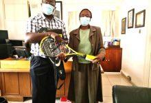 SRAZ Chairman Dr. Lucky Mlilo (left) with Hillside Principal Linda Sibindi