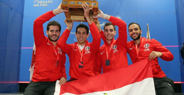Egypt with the 2019 WSF Men's World Teams trophy